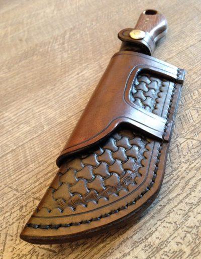 Etui couteaux en cuir